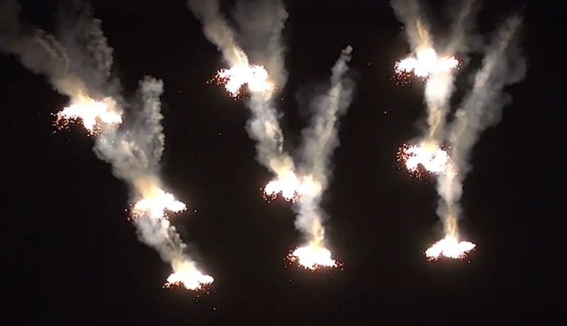 CollMot Provides World's First Firework Show from Drones